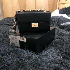 Black Chanel purse